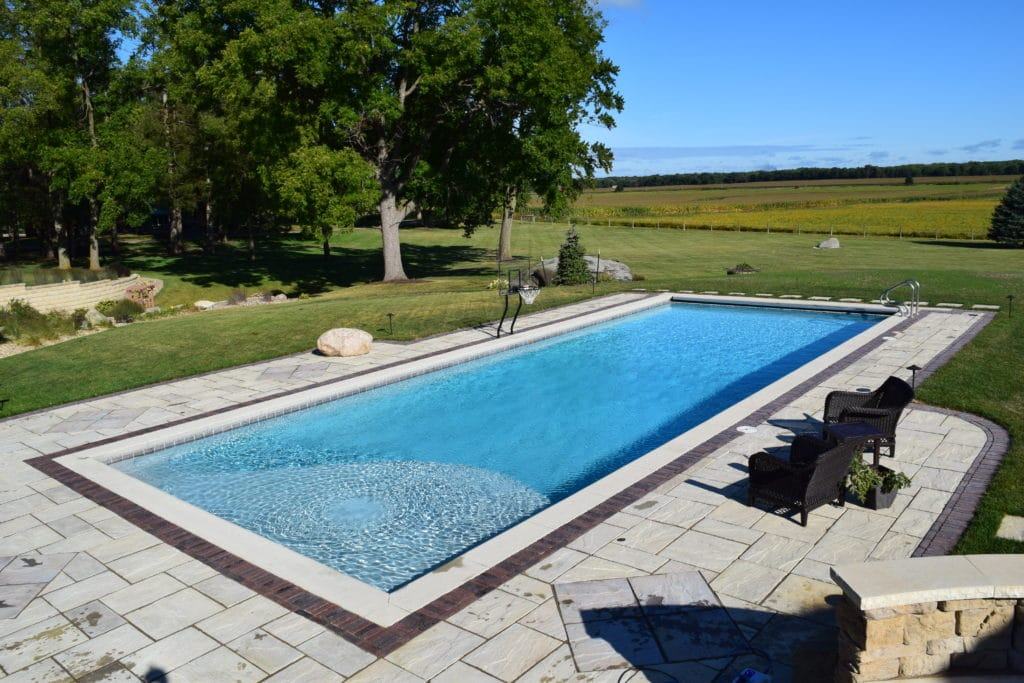Custom concrete pool project - vinyl liner