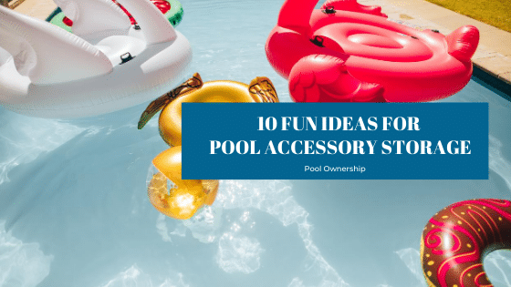 swimming pool accessory storage ideas from Splash Pool & Spa in Cedar Rapids, Iowa
