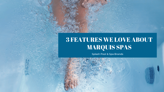 soaking in a Marquis Spas hot tub at Splash Pool & Spa in Cedar Rapids, Iowa