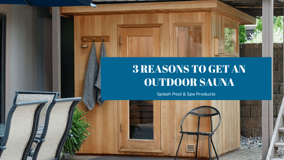 outdoor sauna from Finnleo saunas sold at Splash Pool & Spa in Cedar Rapids, Iowa