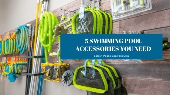 Swimming pool accessories sold at Splash Pool & Spa in Cedar Rapids, Iowa